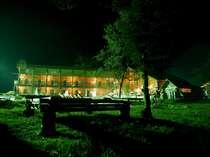 国内最大級ログ本館夜景