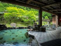 新緑、大自然の景色を見ながらの混浴露天風呂大沢の湯