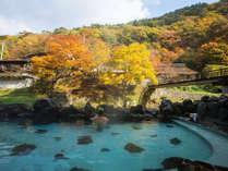 秋やはっぱり「大沢の湯」からの眺めですね♪