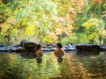 豊沢川と対岸の景色が楽しめる「豊沢の湯」