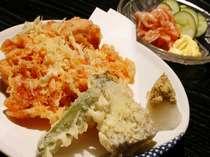 旬の海幸と野菜の天麩羅 一例