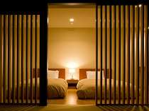 床暖房も完備された寝室。和室とは別空間の造り