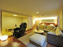 和洋スイートは本格派の高級マッサージチェアを完備しているお部屋も用意しています。