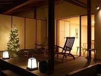 12月からはクリスマスムードたっぷりの露天風呂付のお部屋