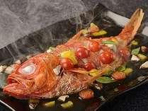 金目鯛料理の里山焼きの一例。