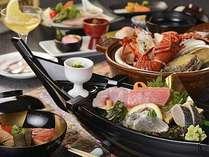 海の幸をふんだんに取り入れた季節替わりのお料理一例。