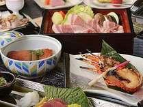 伊勢海老、金目鯛、お肉に野菜。バランス良い献立に仕上げました。
