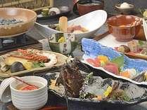 伊勢海老は活造り、醍醐蒸し、焙烙焼きと3品を堪能。和牛のローストビーフもお勧め!
