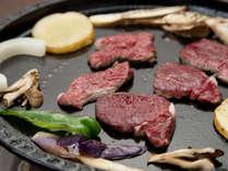 *[鹿肉鉄板焼き一例]鹿肉は焼きすぎると、硬くなりパサつきやすいのでミディアムレアがオススメ!