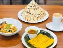 【朝食バイキング一例】マレーシア風のゆるさが当館の自慢♪朝食メニューもシェフの気分で日毎に変わります
