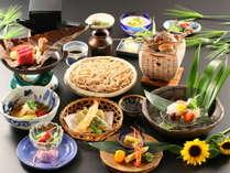 【基本】深志荘お奨め。信州の味と食材にこだわった会席料理をご堪能いただけます。夏の一例