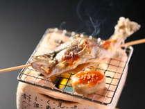 ■いわな塩焼き一例 香ばしい炭火焼き