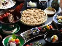【基本】信州こだわり会席≪信州牛の林檎味噌朴葉焼&いわな塩焼&手打ち蕎麦≫ 冬の一例