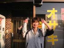 新鮮な魚はおいしいですよー