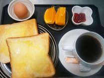【洋朝食(一例)】モーニング気分でごゆっくりお召し上がりください。