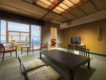 【特別室 和室】露天風呂付き客室~昼は関東平野の絶景、夜は夜景を堪能頂けます