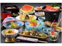 茨城県産「味麗豚」の陶板風ステーキご膳(一例)