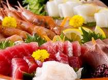 【海の幸満喫プラン】きときと富山湾の海の幸を豪華に盛り込んだ会席料理です。※お刺身イメージ