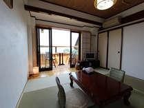 日高見の間。松島湾の絶景をお部屋から!日の出もバッチリです。
