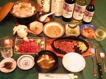 ある日の料理(一人前です)地物須坂産のこしひかり・お替りしてね