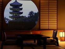 和洋室一例興福寺五重塔がお部屋よりご覧頂けます。