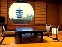 興福寺を望む和洋室(和室)