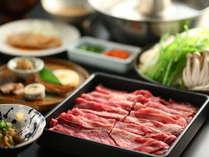 牛しゃぶをお付けするご夕食の一例