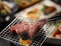柔らかい信州牛の網焼き。お好きな焼き加減で。