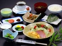 高野屋の朝食は田舎らしい手料理になっております