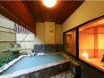 【露天付客室】プライベートな空間を愉しめると人気が高い(客室一例)