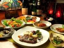 群馬ならではの新鮮食材を使用したお料理をご用意します。※食事一例