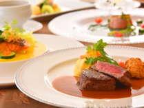 【フランス料理】シェフ厳選の群馬の幸を盛り込んだ目にも美しいフルコース。