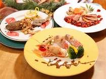 大好評のディナーはシェフこだわりのヨーロッパ、アルプのテイスト