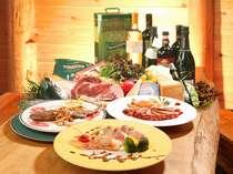 イタリア食材はもちろん地元の旬食材も取り込んだご馳走をどうぞ。
