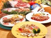 シェフ歴35年のオーナーがイタリアンを基本に地元の味を組み込んだディナー
