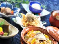 高岡産のコシヒカリと昆布を使用した創作料理