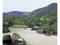 足立美術館秋の庭園