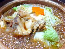 <あんこう鍋>炒ってすりつぶしたアン肝をぜいたくの使った特製味噌仕立のあんこう鍋