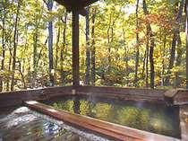 四季を鮮やかに堪能できる自然に包まれた露天風呂。