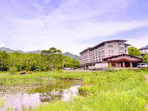 *マイナスイオンたっぷりの志賀高原に佇む当館