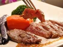 柔らかな 飛騨牛のステーキ