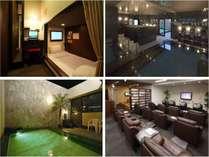キャビンタイプの客室に24時間利用可能な大浴場とリラクゼーションスペース