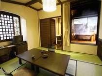 森山館露天風呂付客室こてまりの和室。かわいいお部屋に仕上げています