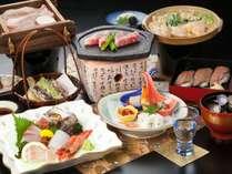地産地消会席【ふるさと冬】鳥取の食材を食してください。