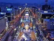 大通公園(テレビ塔からの景観)