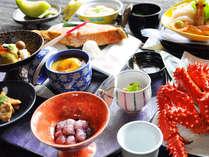 【館膳】花咲ガニはじめ、季節の旬の海鮮をご提供いたします。