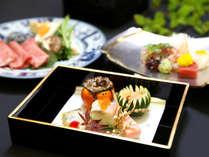 旬の食材を丁寧に調理した北門屋敷のお料理(イメージ)。