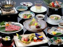 日本海の味覚や、黒毛和牛を食す会席プラン(イメージ)。