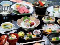 黒毛和牛しゃぶや旬の地魚を食す、一番人気の基本和会席(イメージ)。