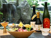 【ご夕食イメージ】萩の地酒を新鮮な地魚と